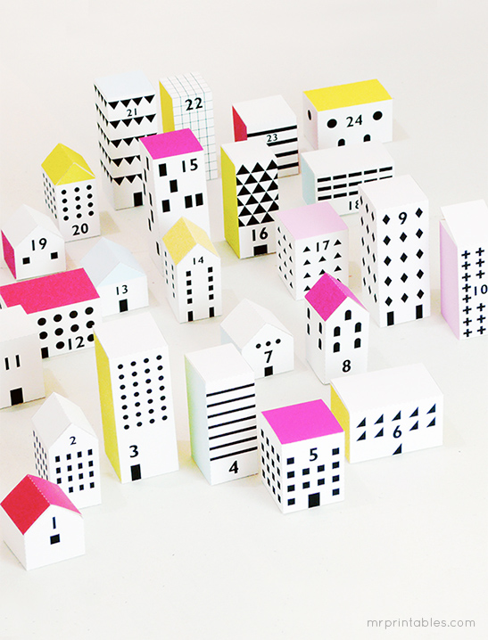 Paper City Christmas Advent Calendar