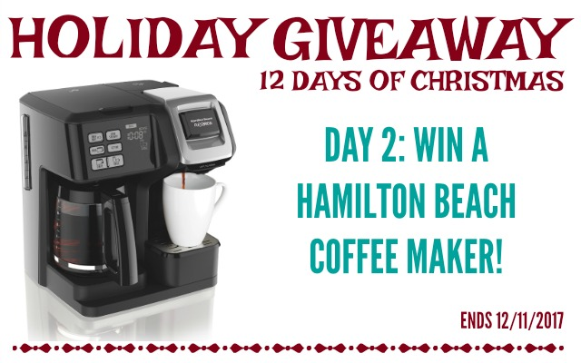 12 Days of Giveaways - Day 2: Hamilton Beach Coffee Maker