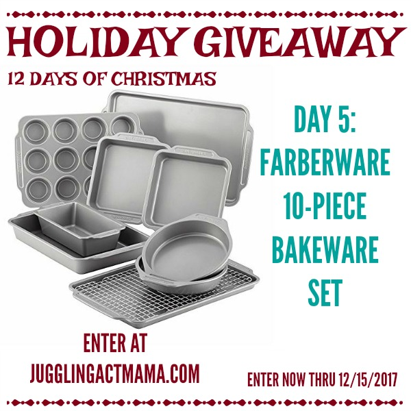 12 Days of Giveaways - Day 5: Faberware 10 Piece Bakeware Set