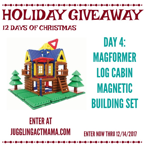 12 Days of Giveaways - Day 4: Magformers Log Cabin Magnetic Building Set