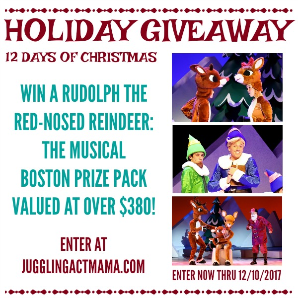 12 Days of Giveaways: Rudolf the Red Nosed Reindeer Musical Prize Pack (Local to Boston)