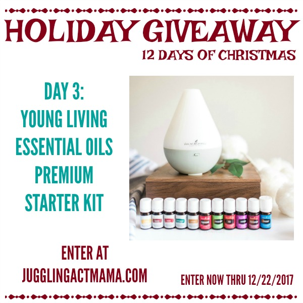 12 Days of Giveaways - Day 3: Young Living Essential Oils Premium Starter Kit