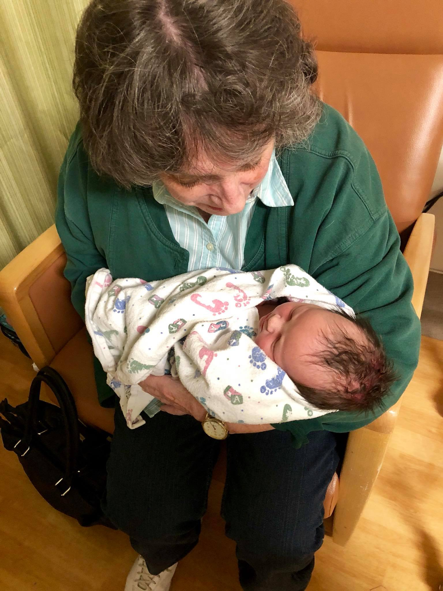 Amélie with her Great Grandma D