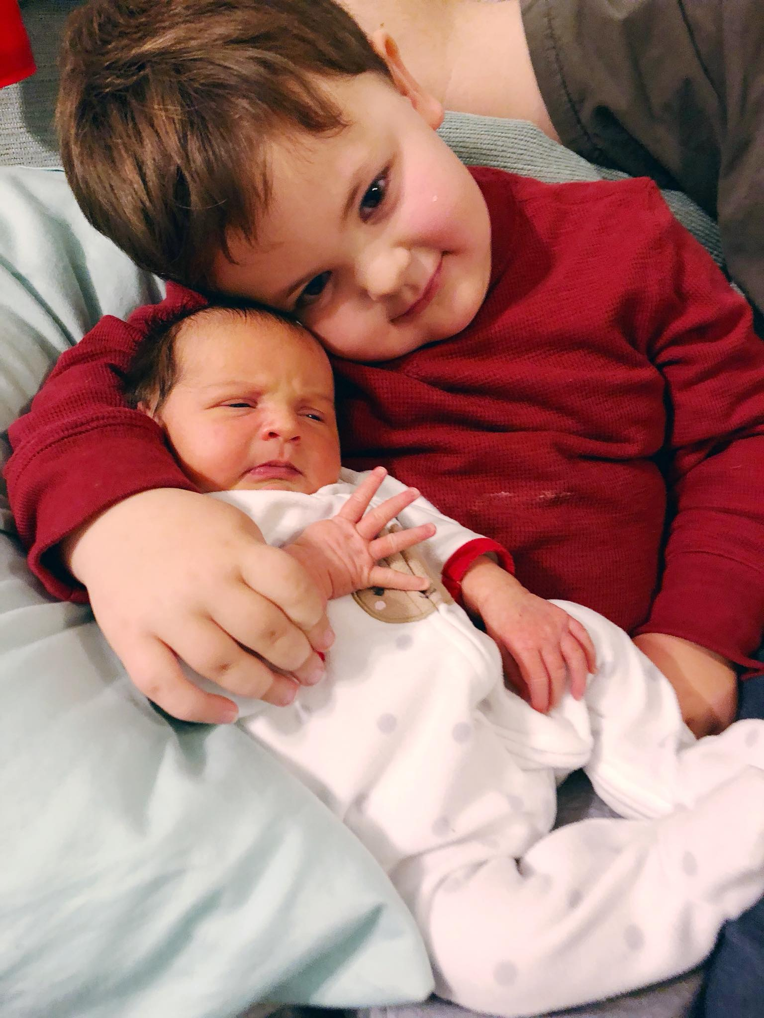 Amélie with her brother Sam