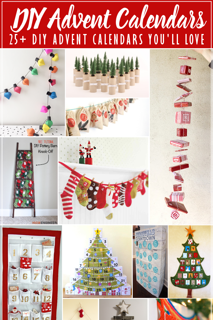 25+ DIY Advent Calendars to Fill and Count Down to Christmas
