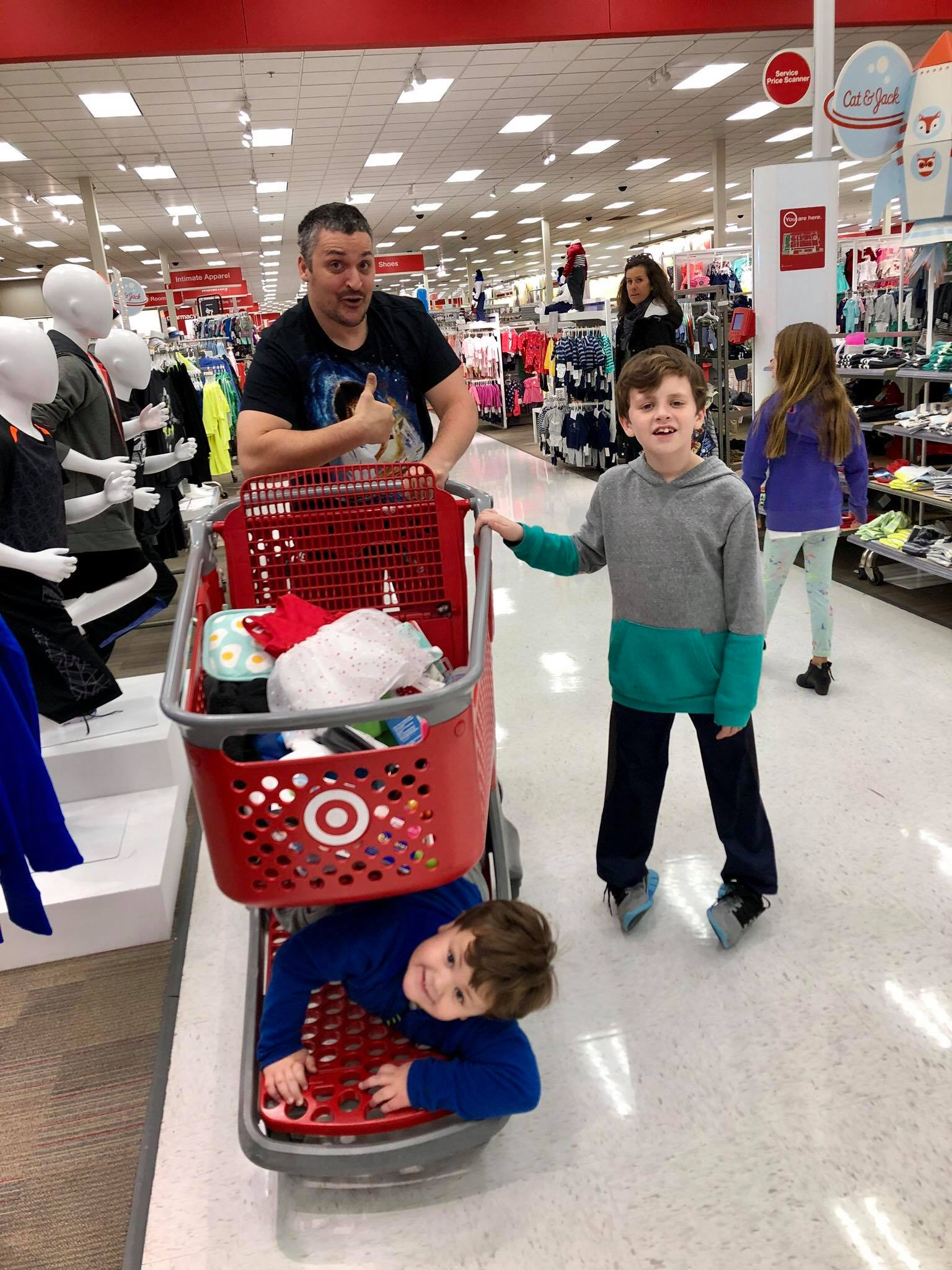 Shopping at Target with the Boys