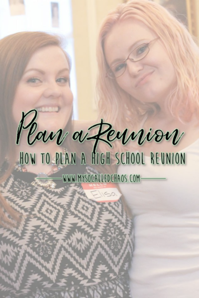 How to Plan a High School Reunion