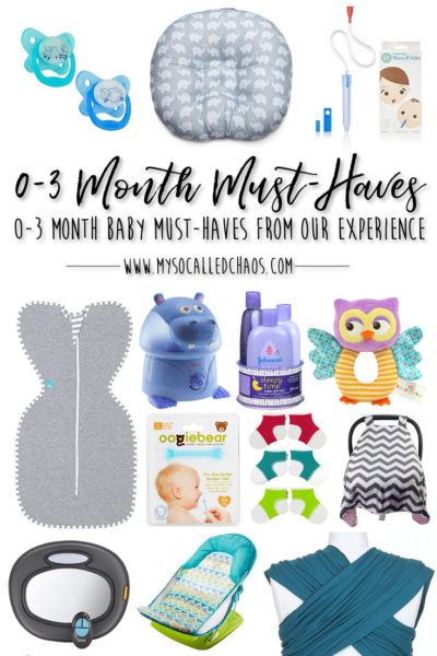 0-3 Months: Our Must-Have Baby Products