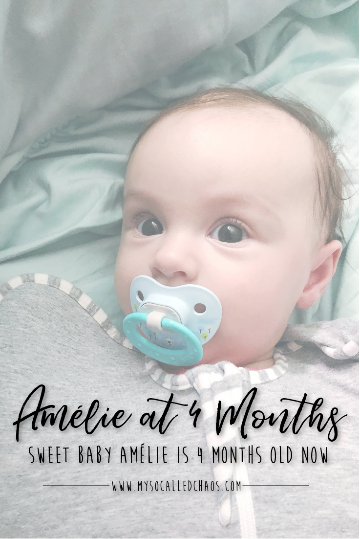 Amélie at 4 Months Old (Cute Baby Picture-Palooza!)