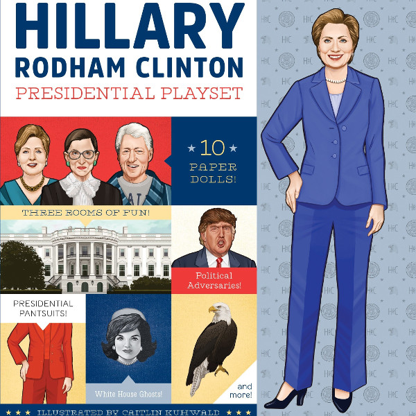 Hillary Rodham Clinton Paper Dolls Kit