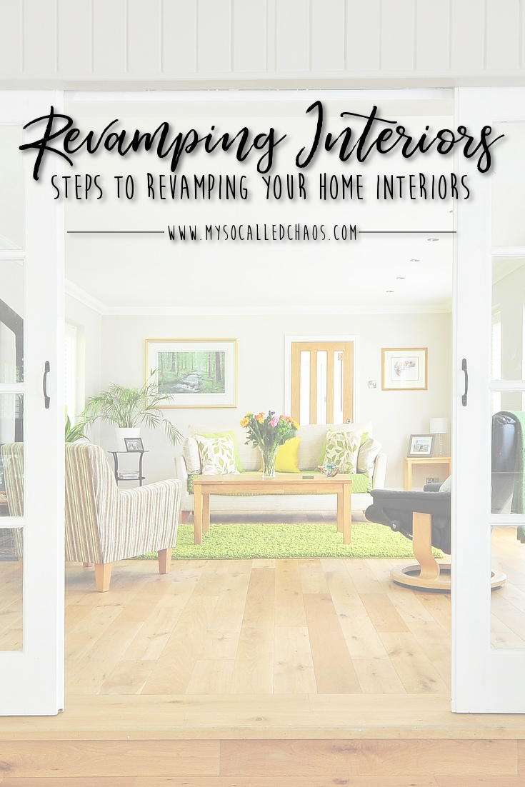 Steps for Revamping Your Home Interiors - French Doors opening up to a modern living room with a green rug, and modern furniture.