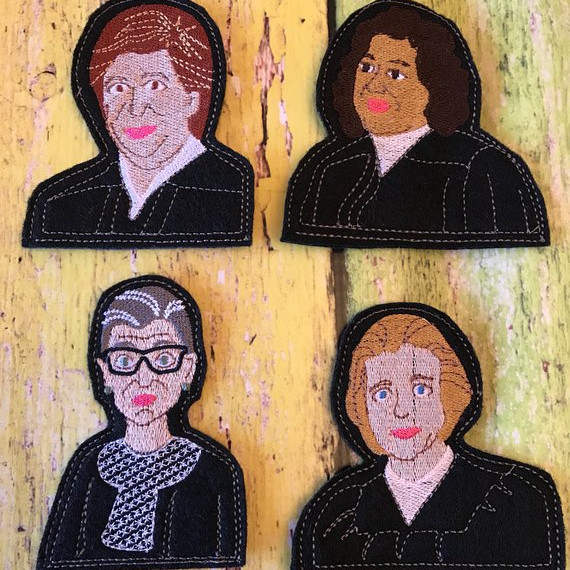Finger puppets depicting the women of the supreme court-handmade from Etsy