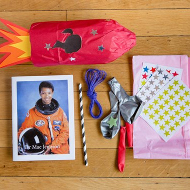 Astronaut Dress Up kit celebrating Mae Johnson for kids, handmade on Etsy