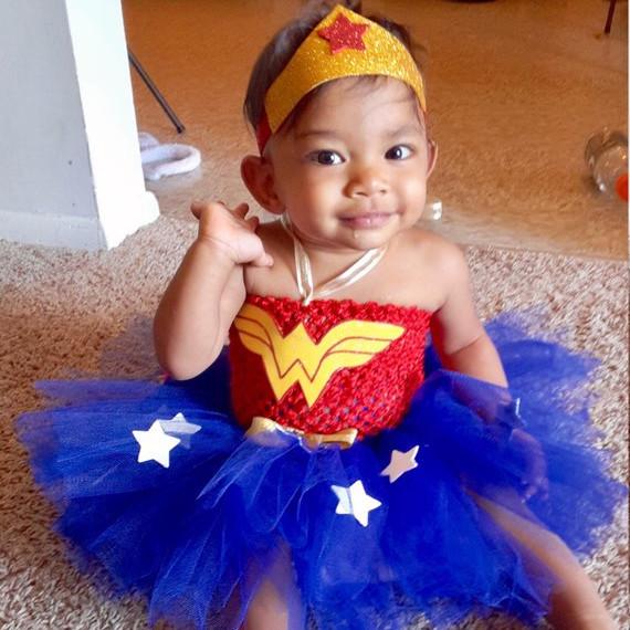 Baby Wonder Woman Costume with Tutu, handmade on Etsy
