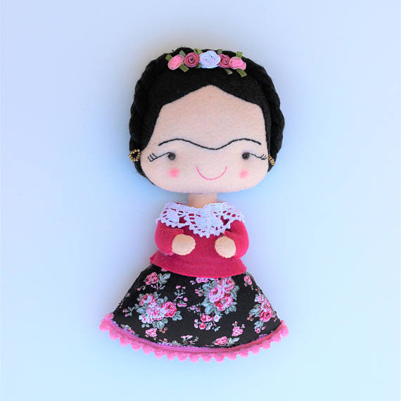 Beautiful Soft Felt Handmade Frida Kahlo Doll from Pittitus on Etsy