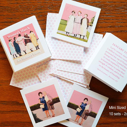 Women's March Art Memory Game Handmade on Etsy