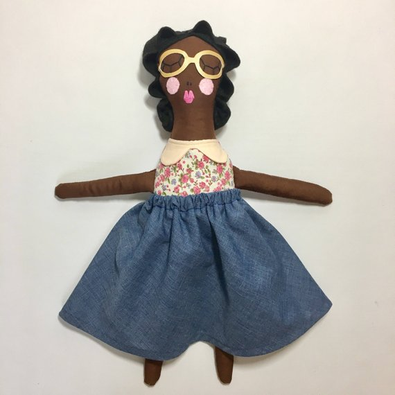 Soft handmade Rosa Parks Doll by Rosie Girl on Etsy