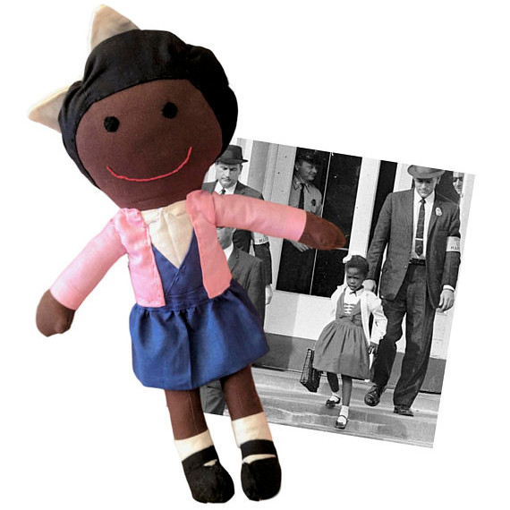 Handmade rag doll named Ruby, inspired by Civil Rights Activist Ruby Bridges