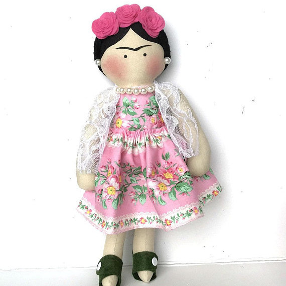 Frida Kahlo Rag Doll handmade on Etsy