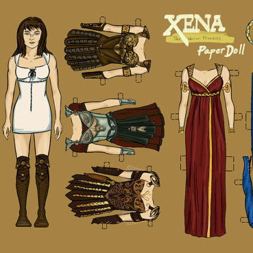 Xena Paper Doll Set from Etsy