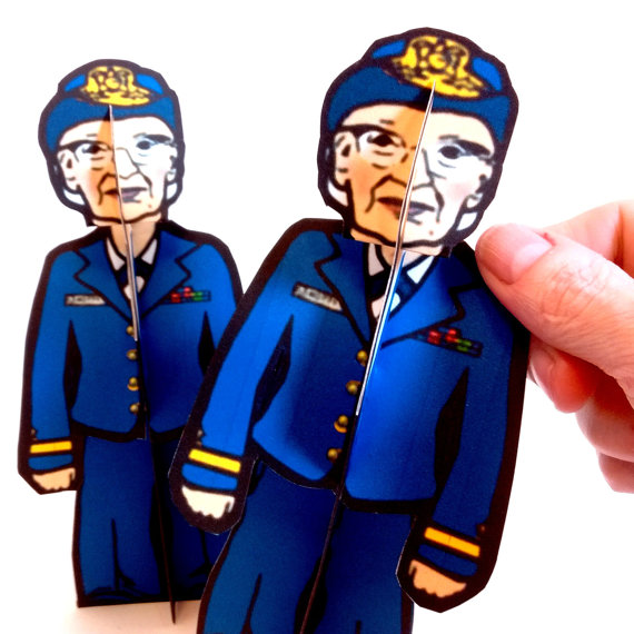 Grace Hopper Coloring Paper Dolls from Etsy