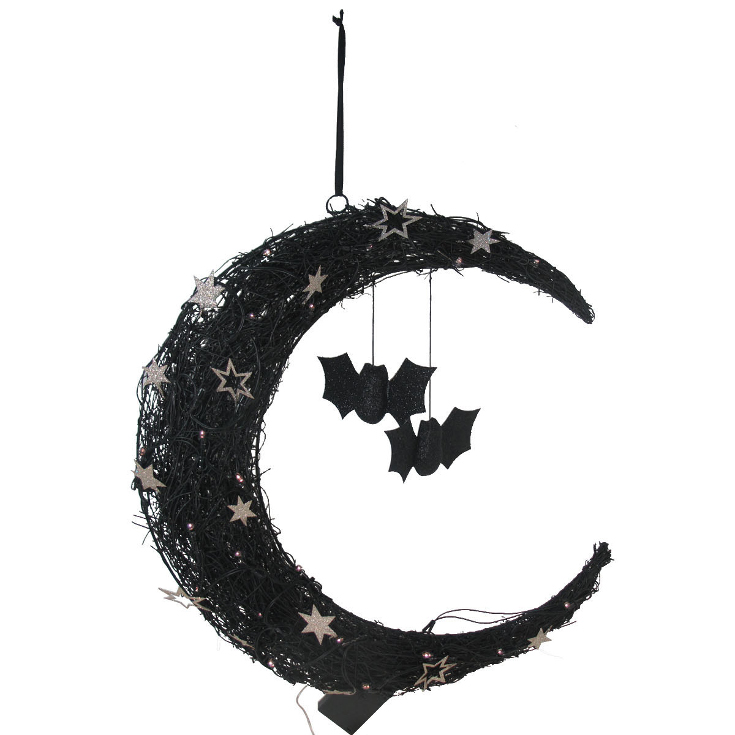 Maker's Halloween LED Moon Wall Decor
