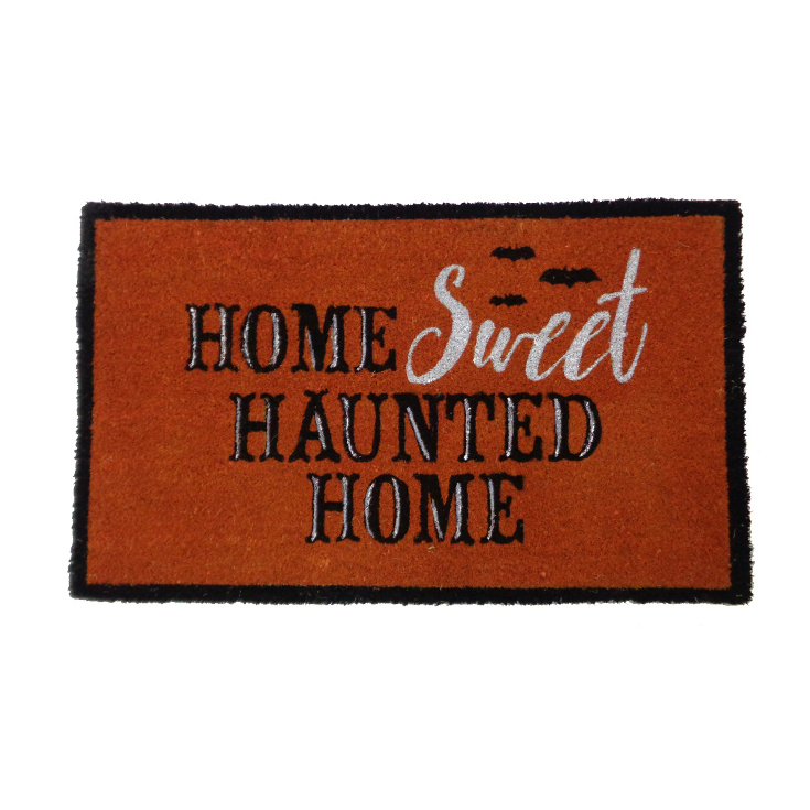 Maker's Halloween Coir Mat-Home Sweet Haunted Home