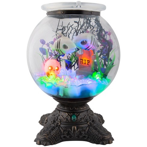 Halloween Animated Skeleton Fish Bowl - Hyde and Eek! Boutique™