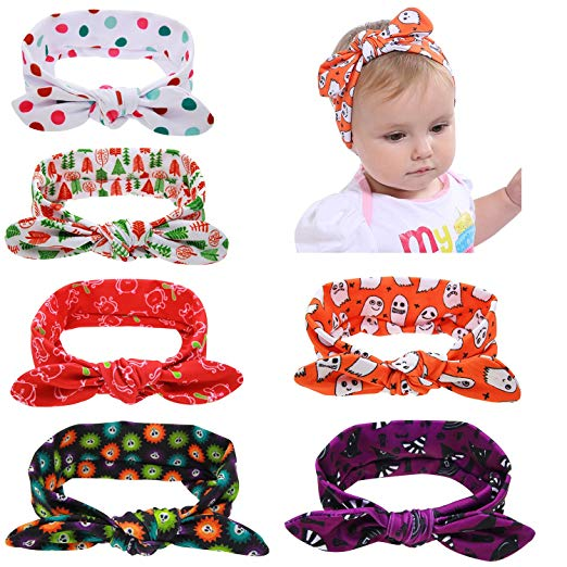 Halloween and Christmas Stretchy Baby Headbands
