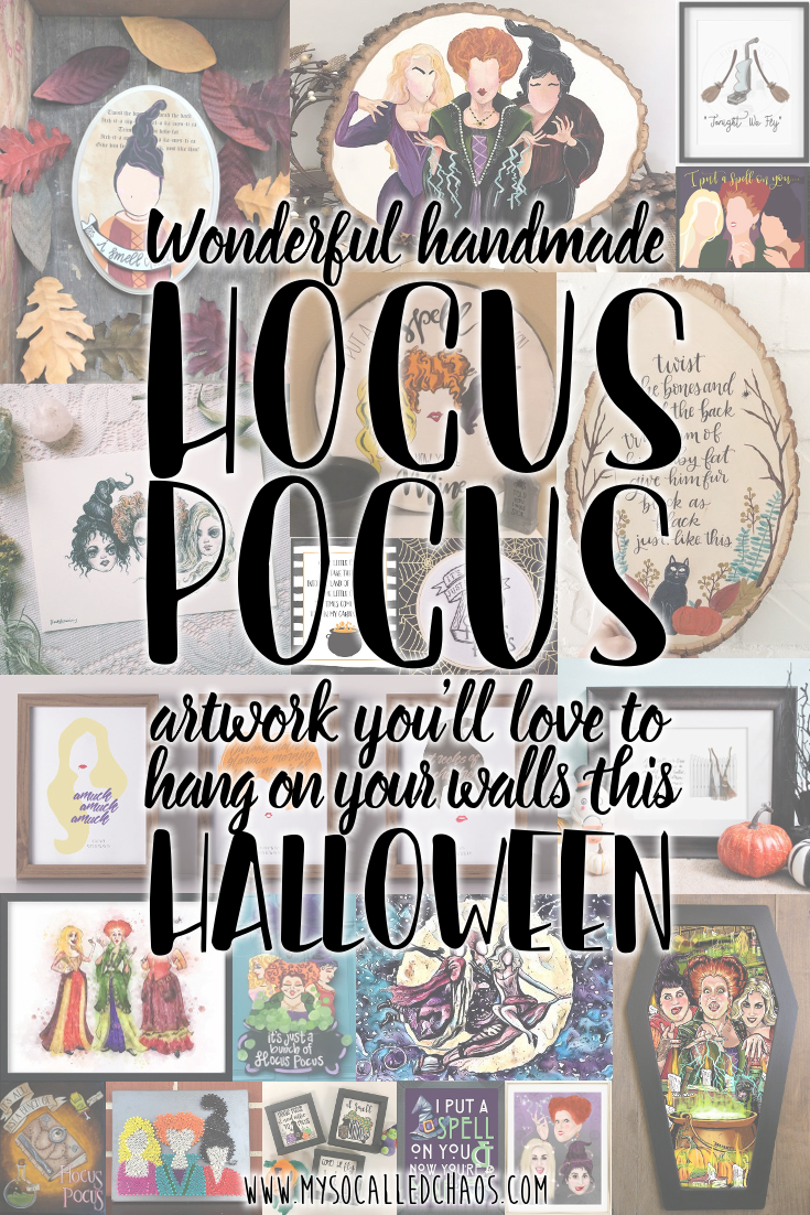 Wonderful handmade Hocus Pocus artwork you'll love to hang on your walls this Halloween