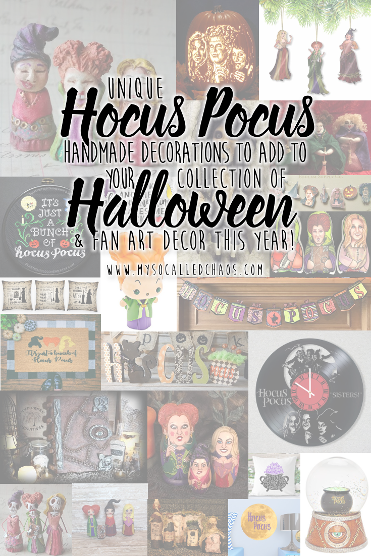 Unique Hocus Pocus Handmade Decorations to Add to Your Collection of Halloween & Fan Art Decor this Year!