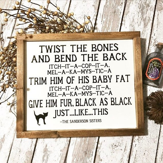 Twist the Bones and Break the Back Print from Hocus Pocus by the shop The Willow Rabbit