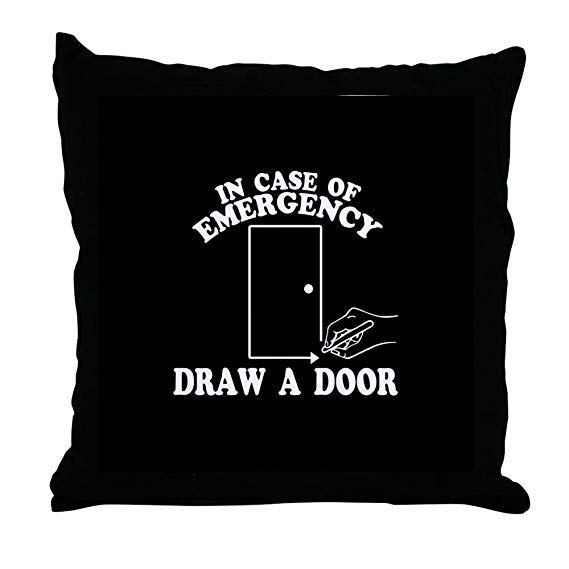 Beetlejuice Draw a Door Throw Pillow via CafePress/Amazon