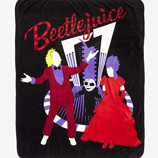 Beetlejuice Wedding Silhouette Throw Blanket via Amazon
