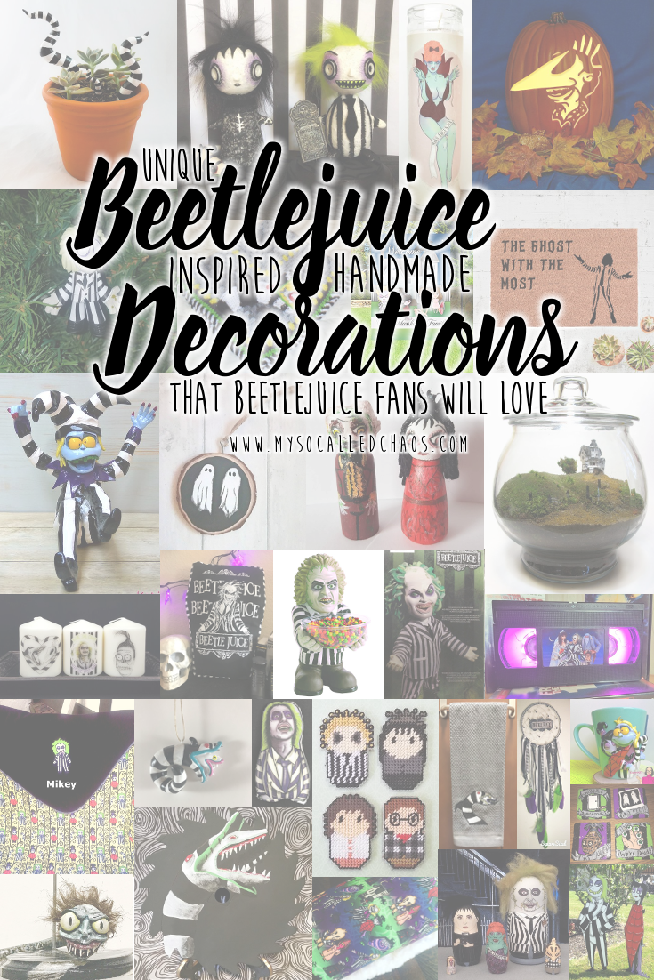 If you're a fan of Tim Burton's Beetlejuice, you should snatch up some of these amazing unique pieces of Beetlejuice Decor for your home. Celebrate Beetlejuice's 30th anniversary with these wonderful finds.