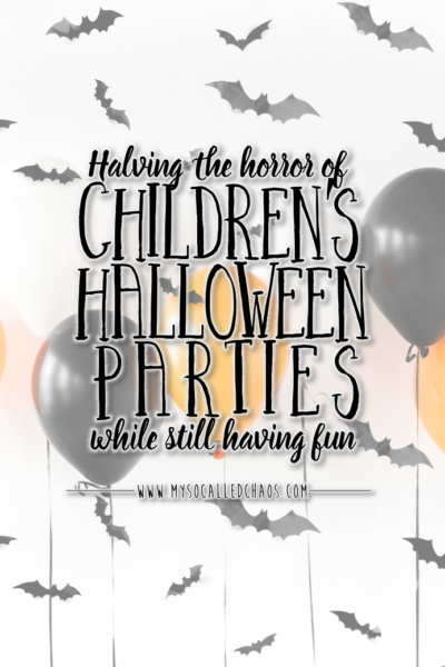 Halving The Horror Of Halloween Parties For Children