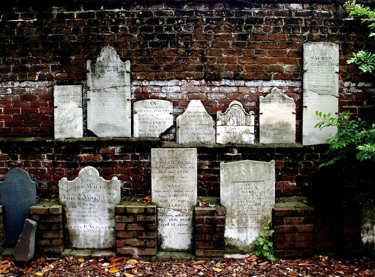 Head Stones in Savannah Georgia