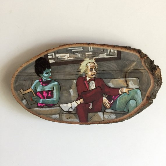 Magician's Assistant Beetlejuice Wood Slice by dorffstuff on Etsy