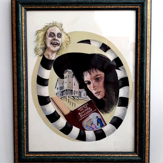 Beetlejuice Print by Delilah Art Shop