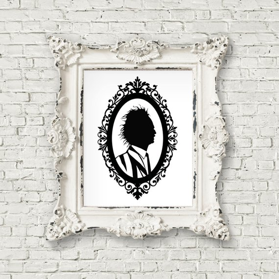 Beetlejuice Silhouette Matte Print by Teacups of Whiskey on Etsy