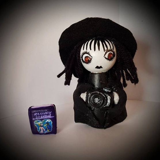 Lydia Deetz Hand Painted Doll by Charlie's Crazy Couture on Etsy