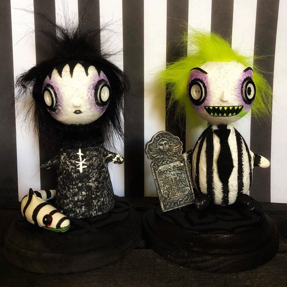 Beetlejuice Gothic Art Dolls by Spookshow Babe Designs