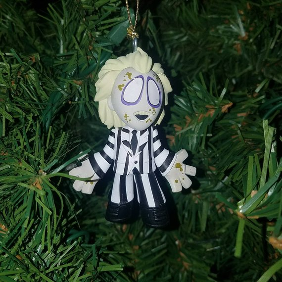 Beetlejuice Christmas Ornament by The Brown Chicken on Etsy