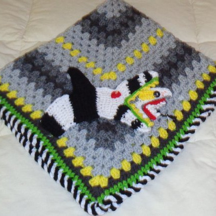 Sandworm Crochet Granny Square Blanket by The Far Left Hand Corner on Etsy