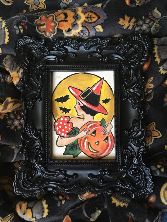 Vintage Witch Painting