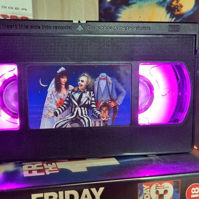 Beetlejuice Retro Vhs Led Light by Retro VHS Shop on Etsy