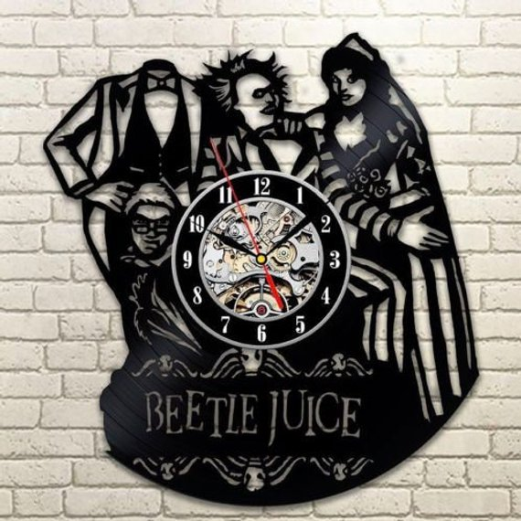 Beetlejuice Horror Movie Wall Clock LP Record by Leonid Crafts