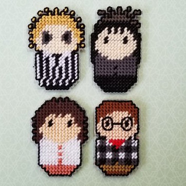 Beetlejuice Magnets by The Crafty Lady12