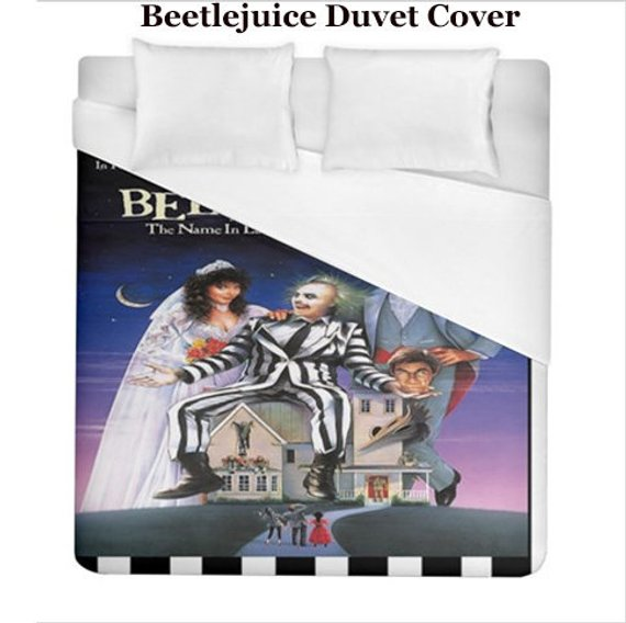 Beetlejuice Duvet Cover from Veronica's Showcase on Etsy