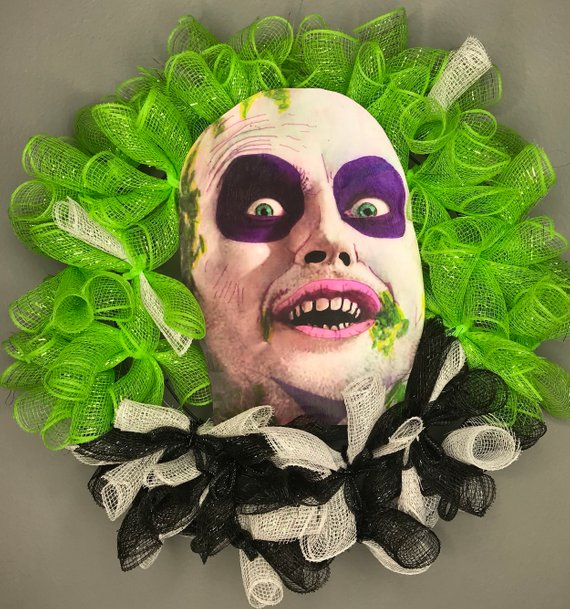 Beetlejuice Wreath by Wreaths and More by Adi